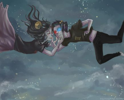 Thank you- Aradia and Sollux by Kayetart