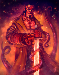 Hellboy fanart 2/2 by JakkeV