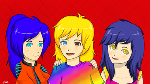 Comision Three Girls by Hanak08