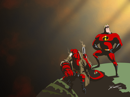 Big Red Duo, Full Color by SonGoharotto
