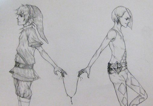 Link, Ghirahim - Thread of Fate by bookwormtiff