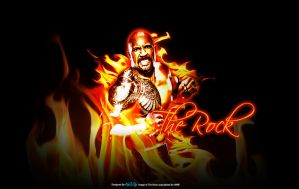 The Rock Wallpaper by KINGGFX1