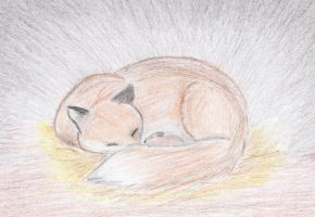 Mother fox by Little-leopard