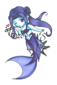 Tsunacon 2013: Chibi Mermaid by kittyocean