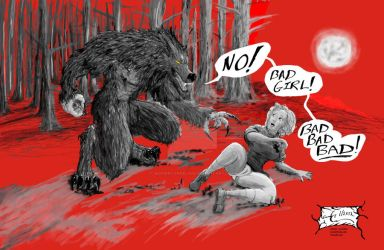 The Werewolf And The Bad Girl by JennerCarnelian
