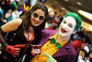 The Joker and Harley by geekypandaphotobox