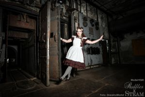 Steampunk Alice in Industrial Wonderland by AyraLeona