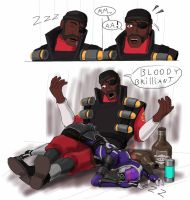 Mass Fortress Meet the demoman by spaceMAXmarine