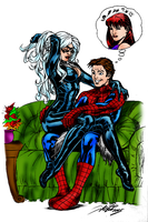 Spidey and Black Cat by Balla-Bdog