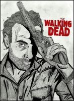 The Walking Dead (Rick-Andrew Lincoln) by MayaOsina