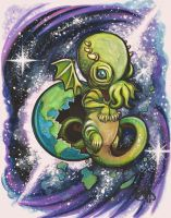 Baby Cthulhu by vampireheartagram27