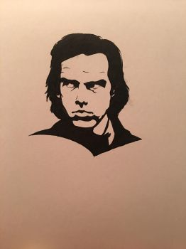 Daily drawing, Nick Cave by NefariousOrder