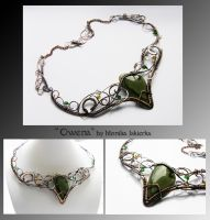 Owena- wire wrapped copper necklace by mea00