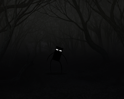 Enderman in the woods by Dragoshi1