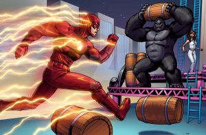 theFlash v. Gorilla Grodd by Dan-the-artguy