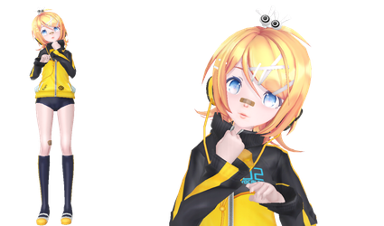 MMD - Sour Rin Stylish Energy R + DL by Chibi-Snorlax