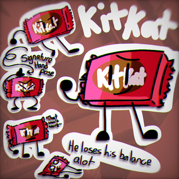 Woah its a Kitkat :0 (BFB OC) by MsBonnieArt