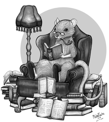 Leseratte bookwormrat Tattoo commision by Mohn-Fuchs