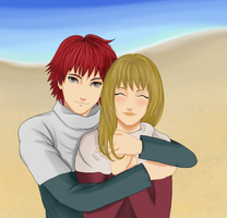 Hug me tight - Sasori and Anze by Denakari
