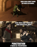 Legend of Korra - Punctuation... by yourparodies