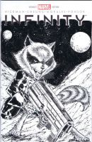 rocket raccoon by adelsocorona