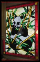 Panda Bear Stained Glass by HouseofChabrier