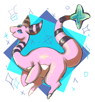 look at this pink kangaroo by mivou