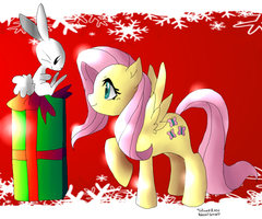 Fluttershy Angel Christmas by Inlinverst