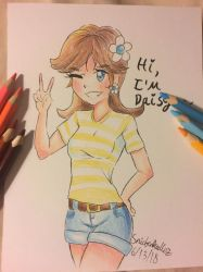 Princess Daisy in Her Casual Outfit by SnickerDoodlezStudio