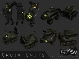 Various Cruix Units by DelphaDesign
