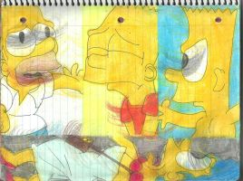 Homer, Marge, and Bart 1 by RozStaw57