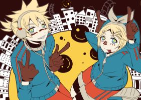 Matryoshka the Kagamine way by RoxanTrinity