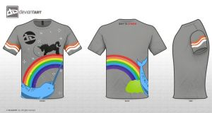 Rainbows Narwhals and Unicorns by LabsOfAwesome