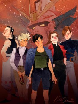 Gundam Wing Boys by kevinwada