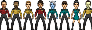 Stephen Shuey's Star Trek TNG Season 1 by SpiderTrekfan616