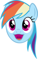 Rainbow Dash Happy Face by M99moron