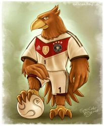 Paule, Germany's Football Eagle Mascot by SpaceCadetBling