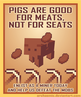 Minecraft Propaganda: Pig by archaemic