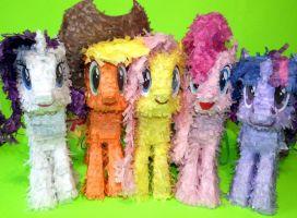 Mane5 Paper Plushies - All of my D'Awww, take it!! by C-quel