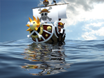 Thousand Sunny Riding The Waves Of The New World by NovasaberProductions