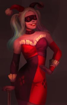 Harley Quinn fan art 2 by TeslaRock