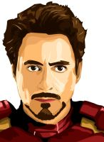 Tony Stark Vector by predator-fan