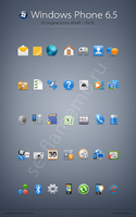 Windows Phone 6.5 icons by FlamEmo