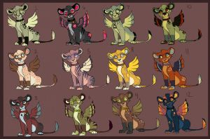 Winged Lion Adoptables -batch 2- by Kitchiki