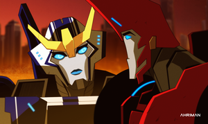Sideswipe and Strongarm by Ahrrr