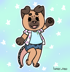 Puggo Chibi Commission by lunar-neo