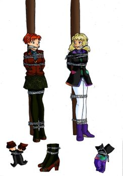 Keyer and CHRYSTEL Catacombs Outfit Designs by DamselComics