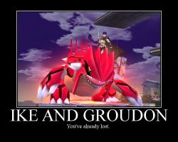 Ike and Groudon by JuniorMafia19