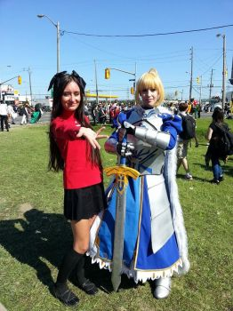 Rin and Saber Cosplay [Anime North 2014] by hailstormnightmare