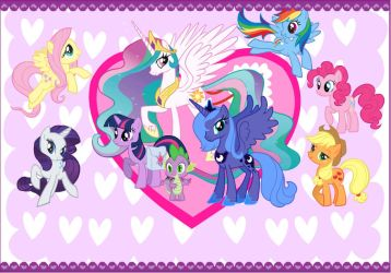 My Little Pony Valentines Card by CurruptedCynder